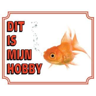 Stickerkoning Goldfish-Uhr-Panel - Das ist mein Hobby