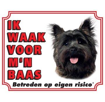 Stickerkoning Cairn Terrier Wake board - Je regarde mon patron Brown