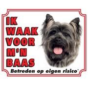 Stickerkoning Cairn Terrier Wake board - Je regarde mon patron gris