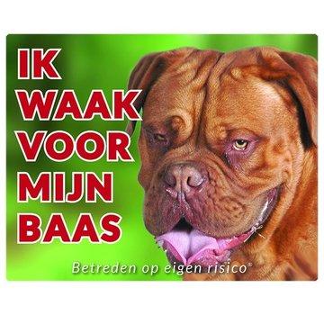 Stickerkoning Bordeaux Dog Watch Board - I watch my boss