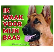 Stickerkoning German Shepherd Wake board - I watch my boss