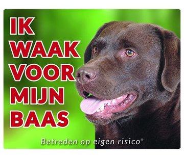 Stickerkoning Labrador Retriever Wake board - ich bei Brown