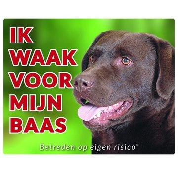 Stickerkoning Labrador Retriever Wake board - Je regarde pour Brown