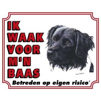 Stickerkoning Friese Stabij Wake board - I watch my boss