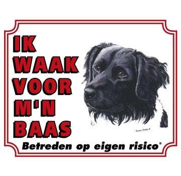 Stickerkoning Friese Stabij Waakbord - Ik waak voor mijn baas