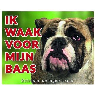 Stickerkoning English Bulldog Wake board - I watch my boss
