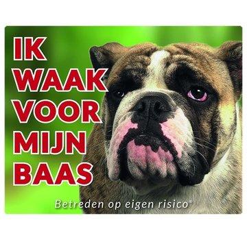 Stickerkoning Englisch Bulldog Wake board - Ich beobachte meinen Chef