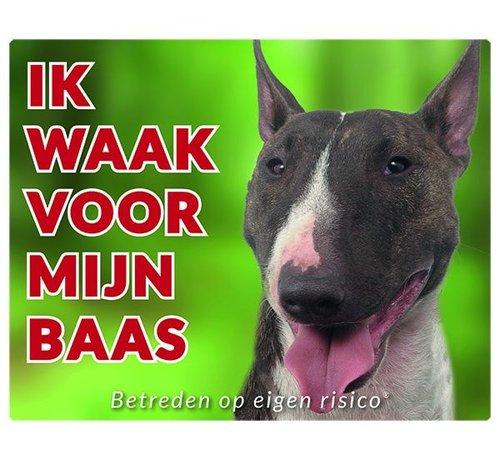 Stickerkoning Bull Terrier Wake board - Je regarde mon patron