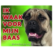 Stickerkoning Bullmastiff Watch Board - I watch my boss