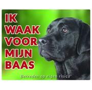 Stickerkoning Labrador Retriever Wake board - I watch for Black