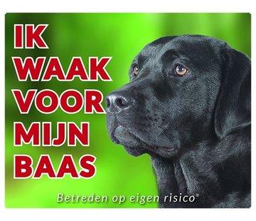 Stickerkoning Labrador Retriever Wake board - Je regarde Black
