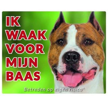 Stickerkoning American Staffordshire Terrier Wake board - I Awake
