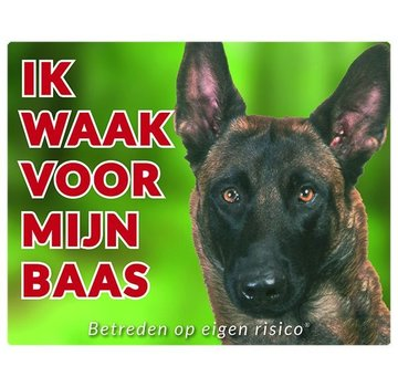 Stickerkoning Malinois Wake board - I watch my boss