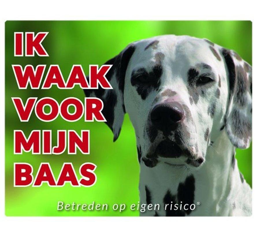 Dalmatier Waakbord - Ik waak voor mijn baas