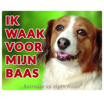 Stickerkoning Kooikerhondje Wake board - I watch my boss