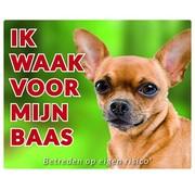 Stickerkoning Chihuahua Wake board - I watch my Shorthair
