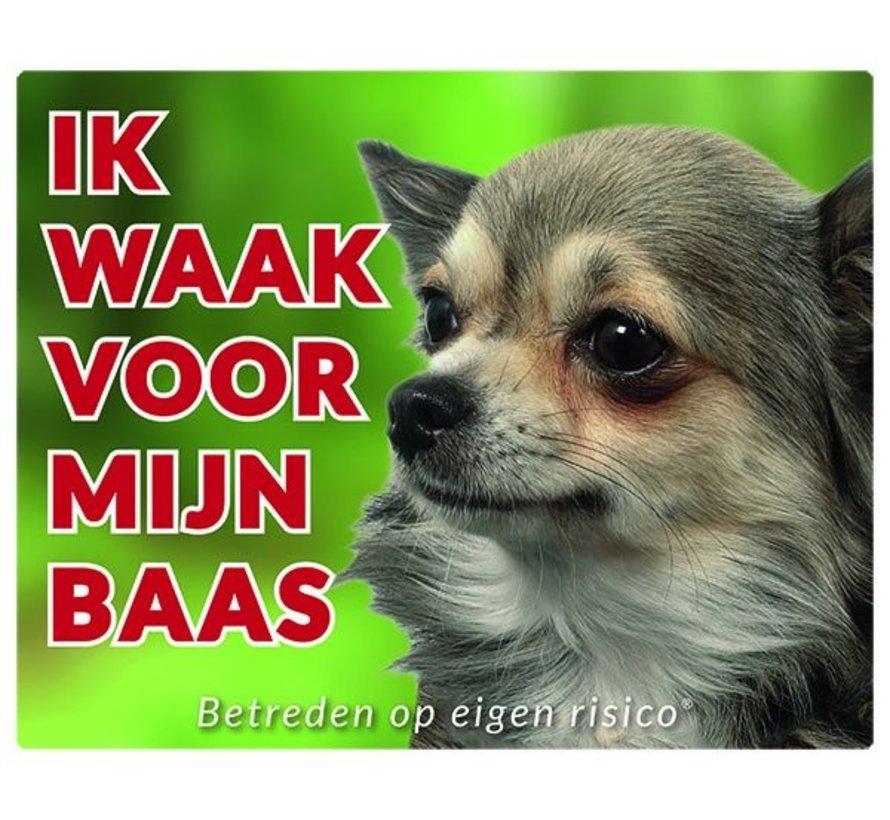 Chihuahua Waakbord - Ik waak voor mijn Langhaar