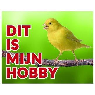Stickerkoning Canary Uhr Panel - Das ist mein Hobby Gelb