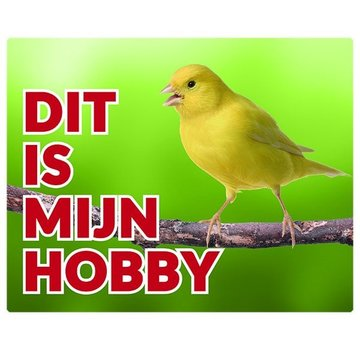 Stickerkoning Canary Montre Panel - Ceci est mon passe-temps jaune