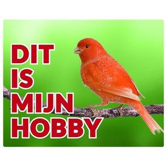 Stickerkoning Canary Uhr Panel - Das ist mein Hobby orange