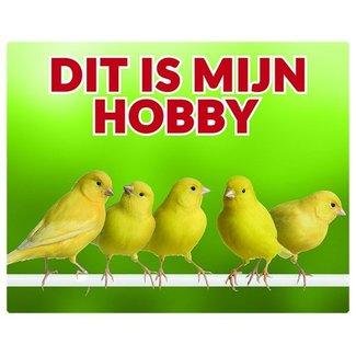 Stickerkoning Canary Uhr Panel - Das ist mein Hobby-Gruppe