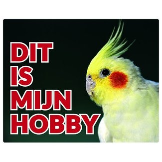 Stickerkoning Cockatiel Watch Panel - This is my hobby Yellow