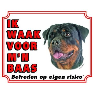 Stickerkoning Rottweiler Wake board - Je regarde mon patron