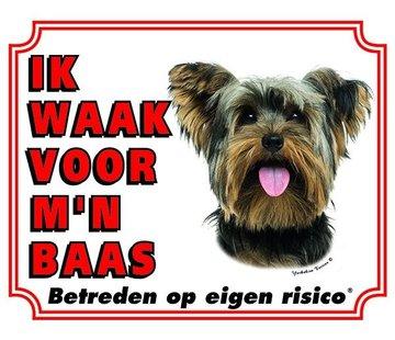 Stickerkoning Yorkshire Terrier Wake board - Je regarde mon patron