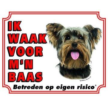Stickerkoning Yorkshire Terrier Wake board - I watch my boss