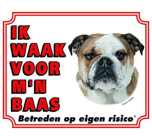 Stickerkoning Bulldog Anglais Wake board - Je regarde mon patron