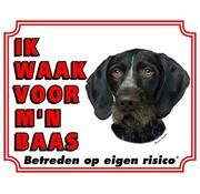 Stickerkoning Duitse Staande Waakbord - Ik waak voor mijn baas