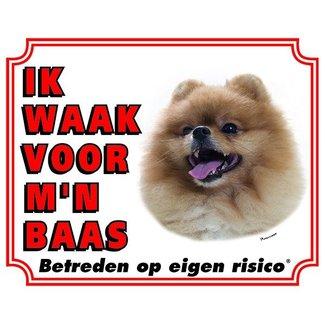 Stickerkoning Pomeranian Wake board - I watch my boss