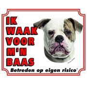 Stickerkoning American Bulldog Wake board - I watch my boss