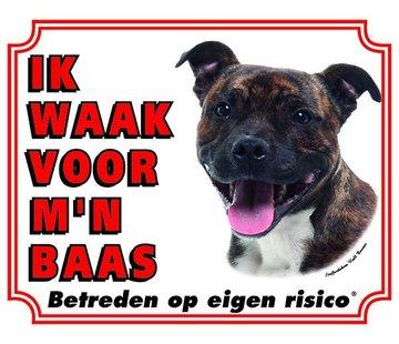 Stickerkoning Staffordshire Bull Terrier Wake board - Ich beobachte für Brindle