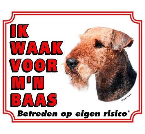 Stickerkoning Airedale Terrier Wake board - Je regarde mon patron