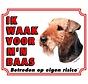 Airedale Terrier Wake board - Je regarde mon patron
