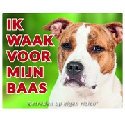 Stickerkoning American Staffordshire Terrier Wake board - I watch