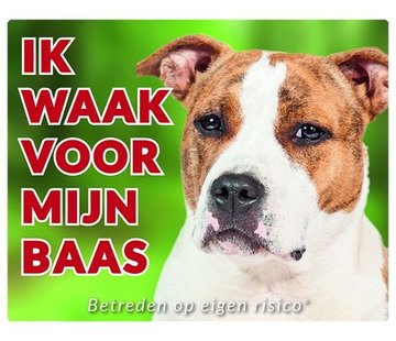 Stickerkoning American Staffordshire Terrier Wake board - ich Uhr