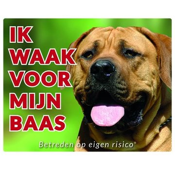 Stickerkoning Boerboel Wake board - I watch my boss
