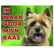 Stickerkoning Cairn Terrier Wake board - I watch my boss Blonde