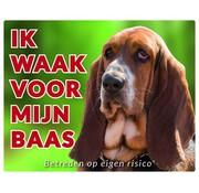 Stickerkoning Basset Hound Wake board - I watch my boss