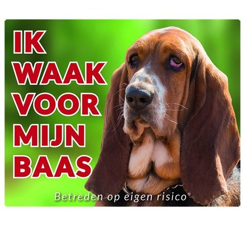 Stickerkoning Basset Hound Wake board - Je regarde mon patron