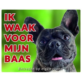 Stickerkoning French Bulldog Wake board - I watch my Brindle