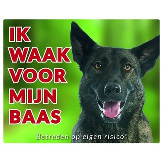 Stickerkoning Dutch Shepherd Wake board - Ich beobachte mein Chef