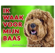 Stickerkoning Labradoodle Wake board - I watch blond for my boss