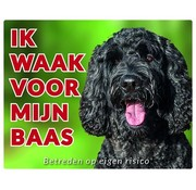 Stickerkoning Labradoodle Wake board - I watch black for my boss