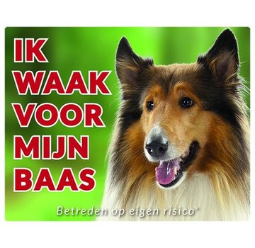 Stickerkoning Scottish Shepherd / Collie Wake board - Ich beobachte Brown
