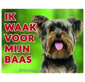 Stickerkoning Yorkshire Terrier Wake board - Ich beobachte meinen Chef