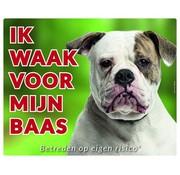 Stickerkoning American Bulldog Wake board - I watch my boss