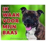 Stickerkoning Staffordshire Bull Terrier Wake board - I watch for Brindle